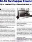 2011 / Drink Tech Pro-Tek Çevre Sağlığı ve Sistemleri Hijyen Konusundaki Yeniliklerini Sürdürüyor